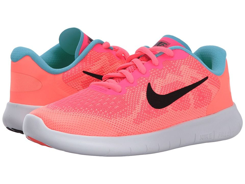 db2cd864ac Nike Kids Free RN (Little Kid) Girls Shoes Racer Pink/Black/Lava Glow/Pure  Platinum