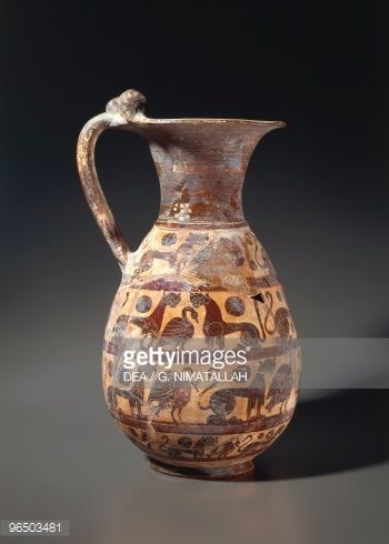 Stock Photo : 6th Century B.C., Italy, Tarquinia, Museo Archeologico (Archaeological Museum), Etruscan art