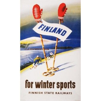 Finland for winter sports / Juliste27