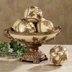 Decorative Balls For Bowl Jeneva Centerpiece Bowl Only Bronze  Google Search  The Grand