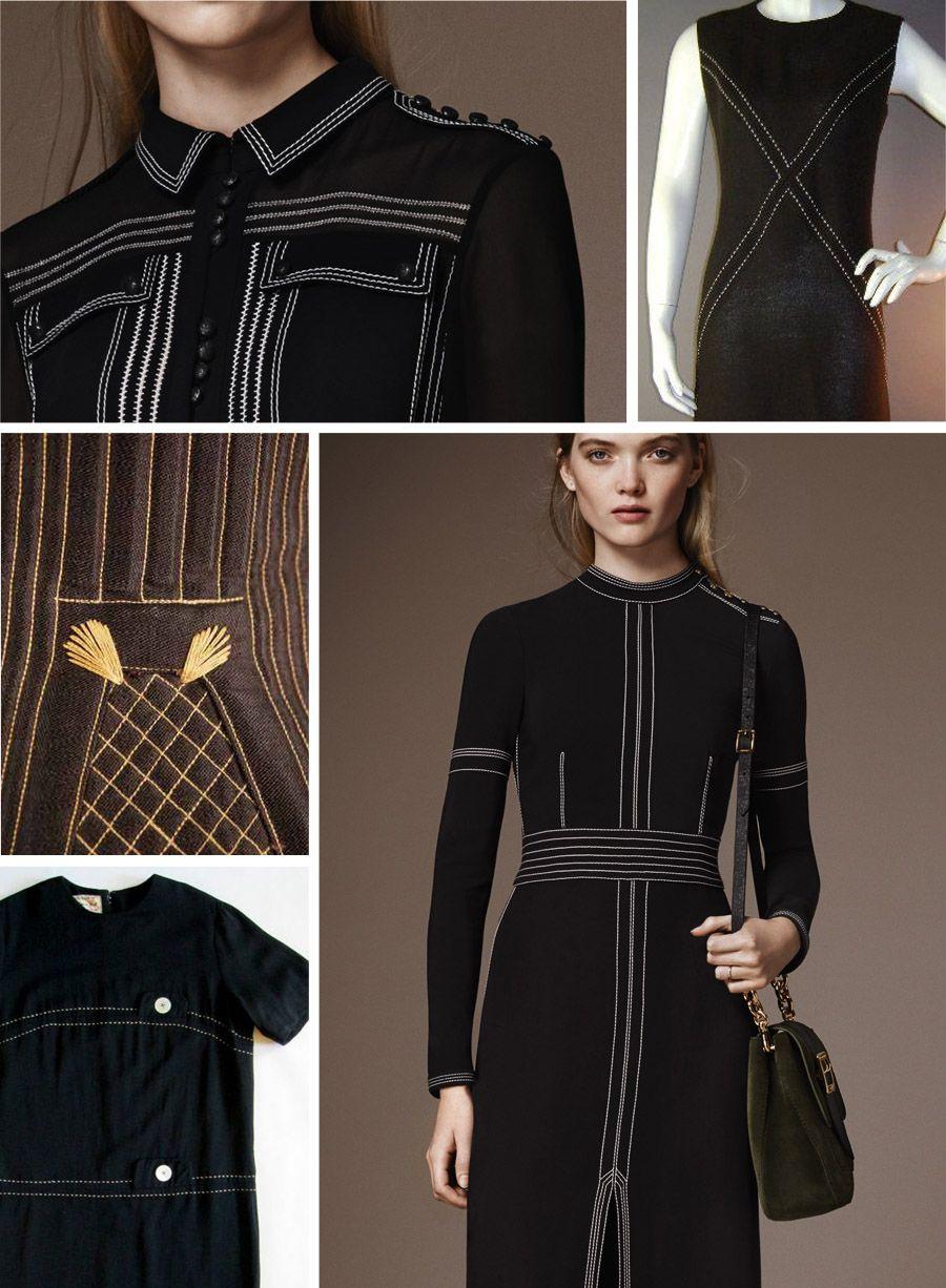 Inspiration: 27 Topstitched Details | Colette Blog | Sashiko | Pinterest