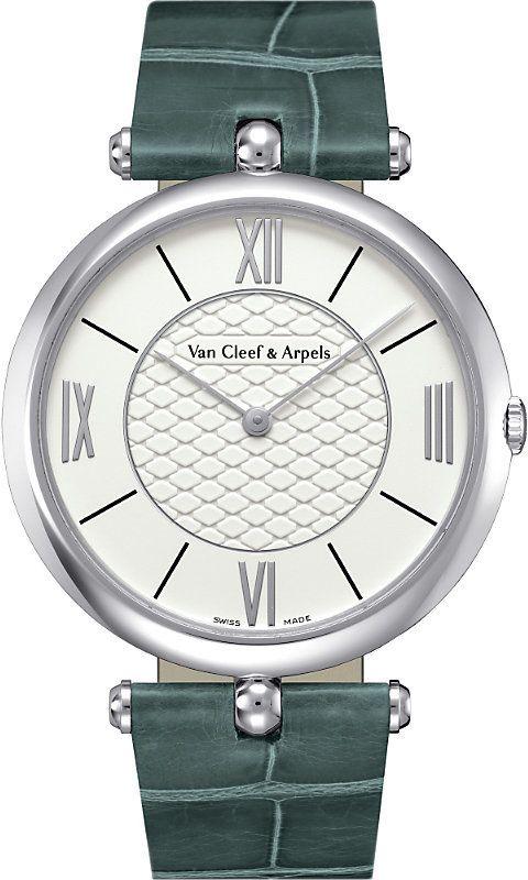 2b8ffd16c7 Van Cleef & Arpels Van Cleef & Arpels Pierre Arpels Leather | Montre ...
