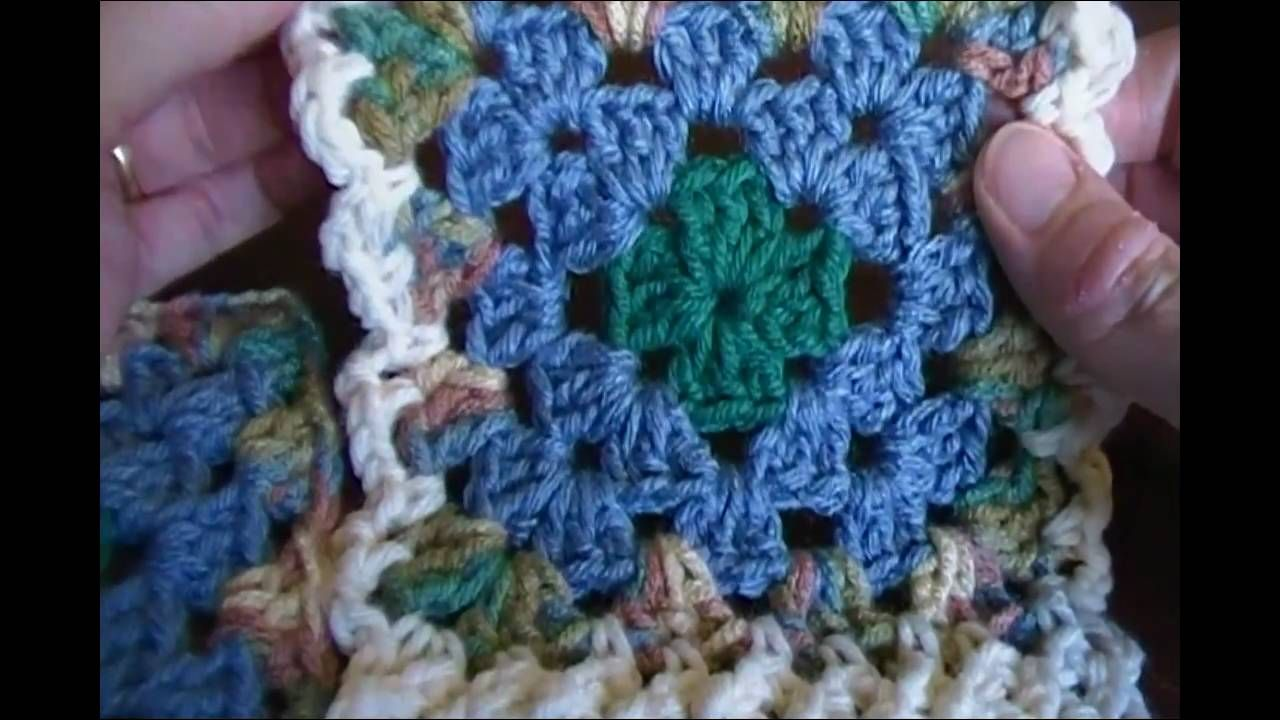 Flat Braid Join Granny Square Crochet Pattern Granny Square Crochet Granny Square