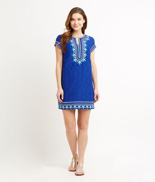 56744acff91 Shop Starfish Embroidered Tunic Dress at vineyard vines | Dresses ...