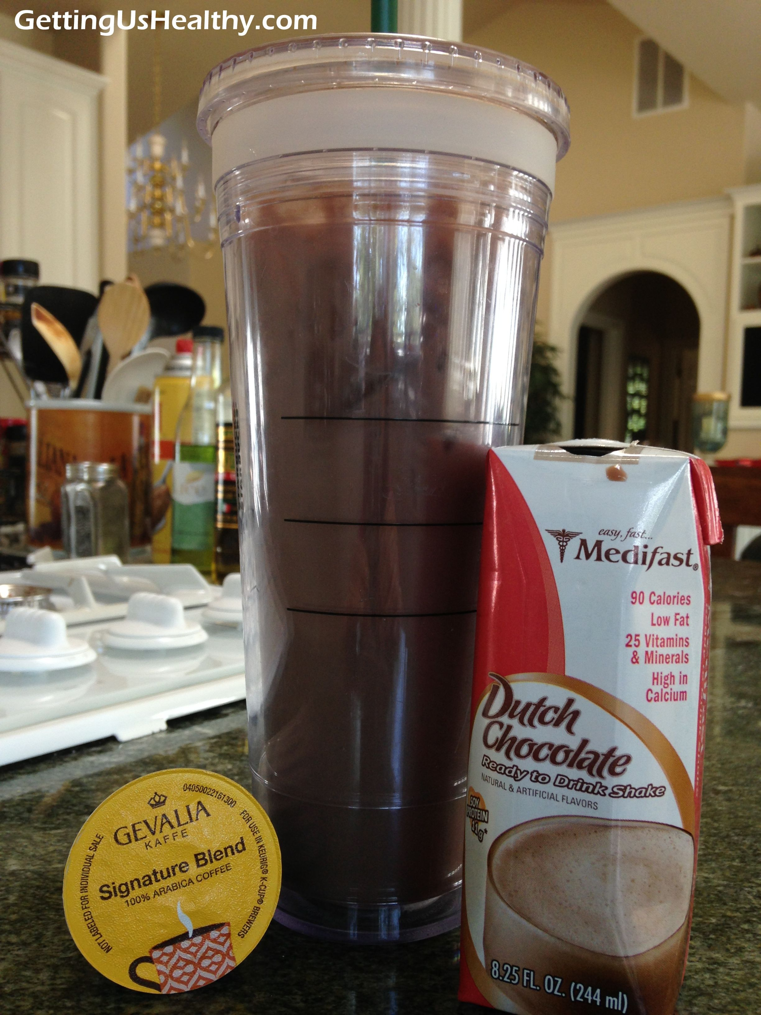 An amazing and healthy Iced coffee/mocha drink only 90