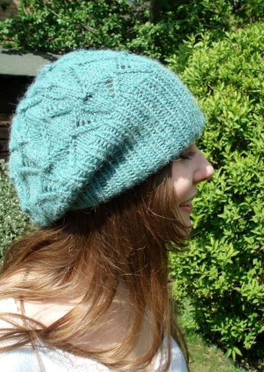 d66069c044e Woolly Wormhead - Starburst - slouchy lace Hat knitting pattern ...
