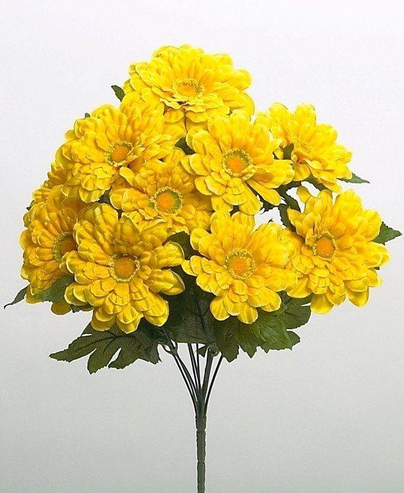 Zinnia bush with artificial yellow flowers zinnias yellow flowers zinnia bush with artificial yellow flowers mightylinksfo