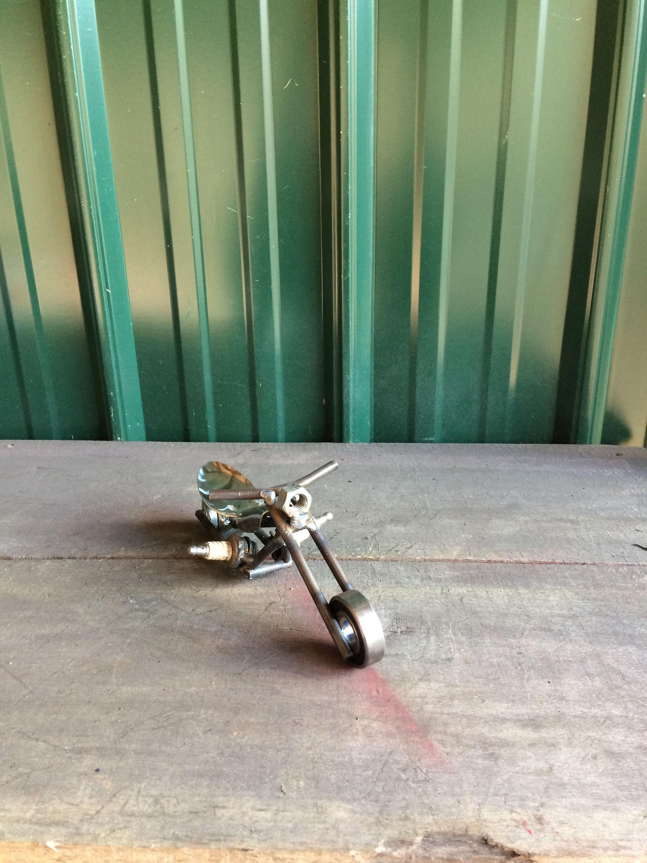 Chopper Etsy Chopper, Scrap metal, Metal art