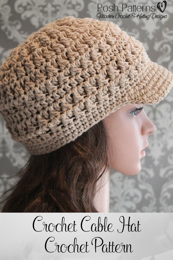 Crochet Pattern - A crochet newsboy hat pattern that has tons of texture  and is… 3409fb7baf