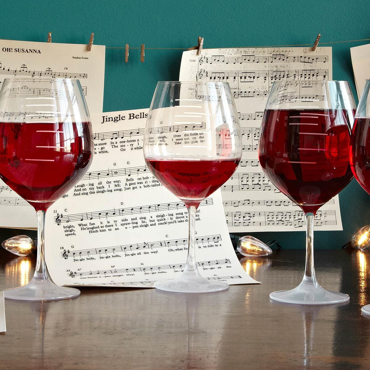 Major Scale Musical Wine Glasses Set Of 2 Wine Gadgets Wine Wine Glasses
