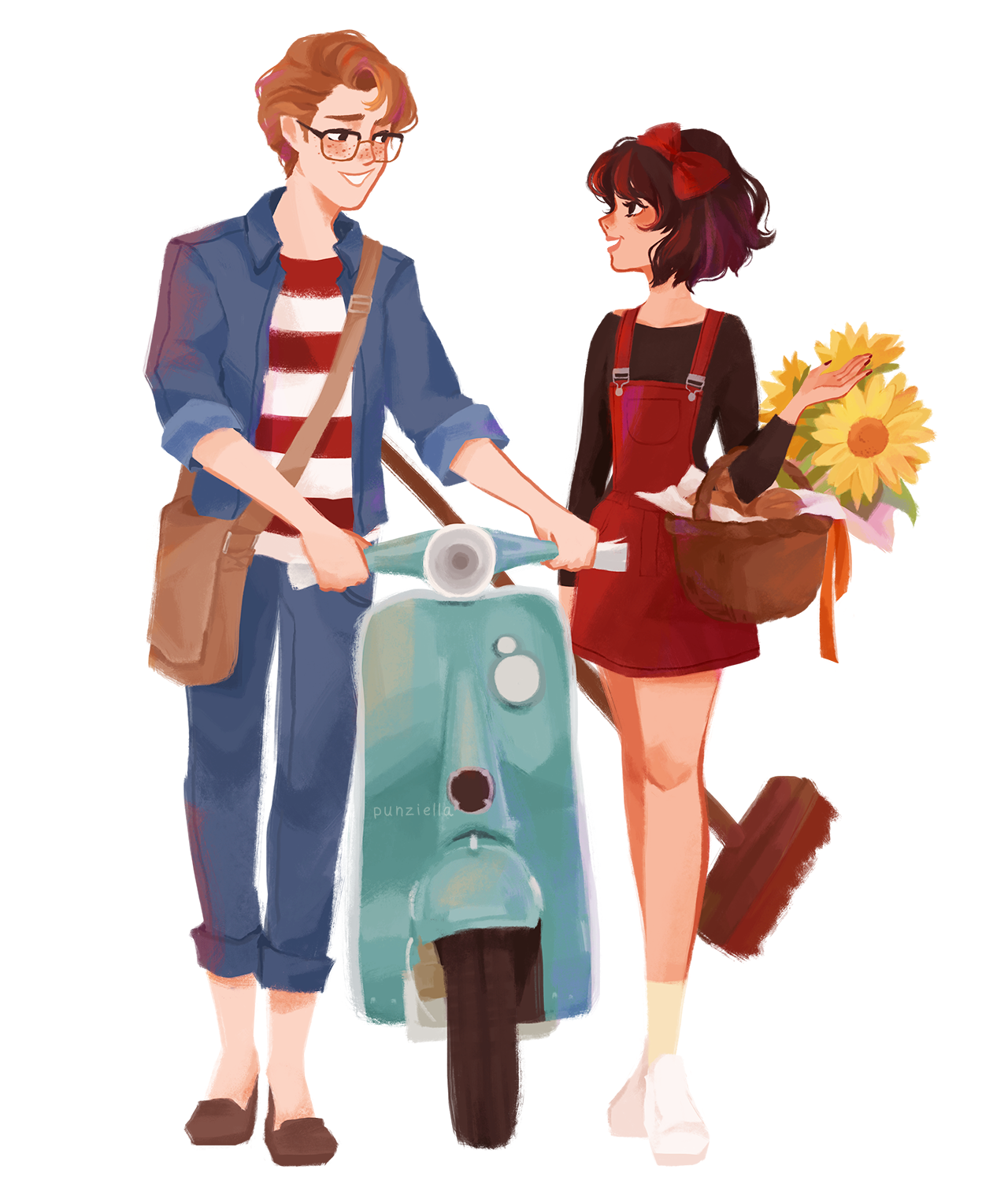 Character Design Art School : Kiki and tombo for a lovely donor anime pinterest