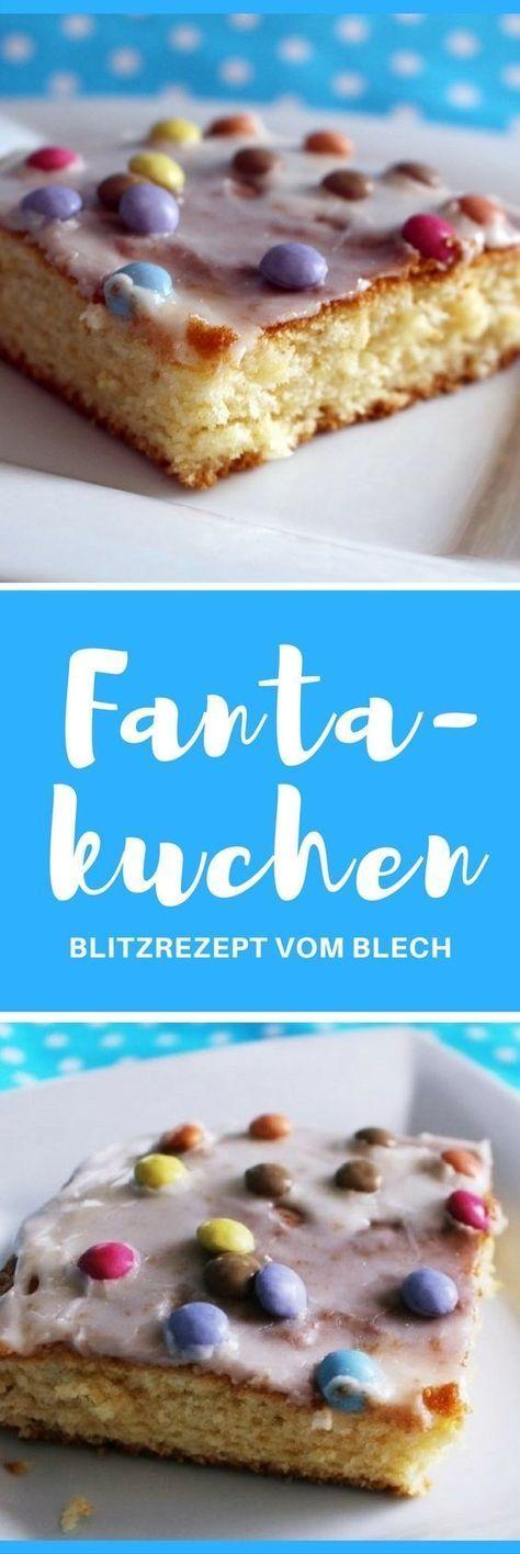 [Rezept] Fantakuchen Blech - schnell, bunt, einfach lecker #fastrecipes