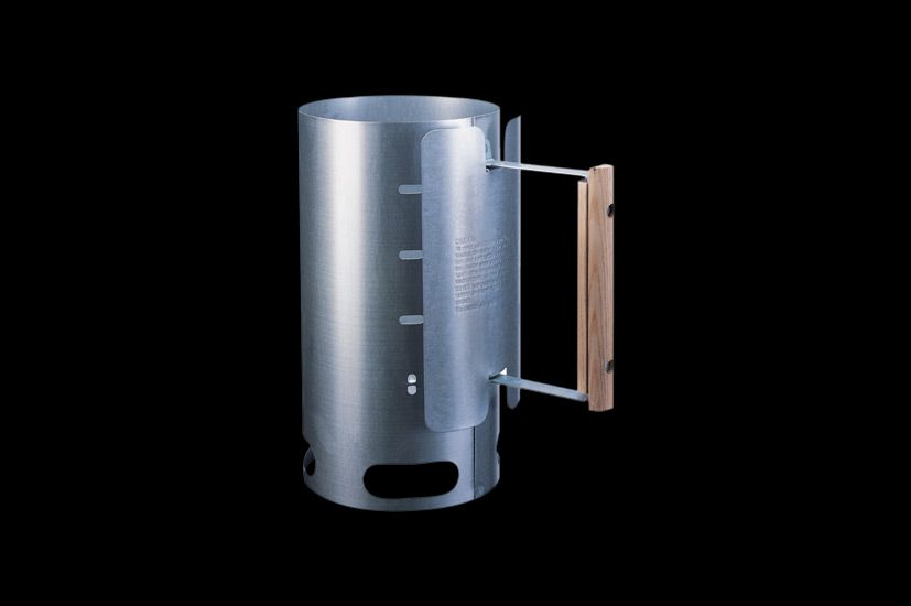 Charcoal chimney starter cooking accessories