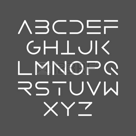 58649875 Thin Line Bold Style Uppercase Modern Font
