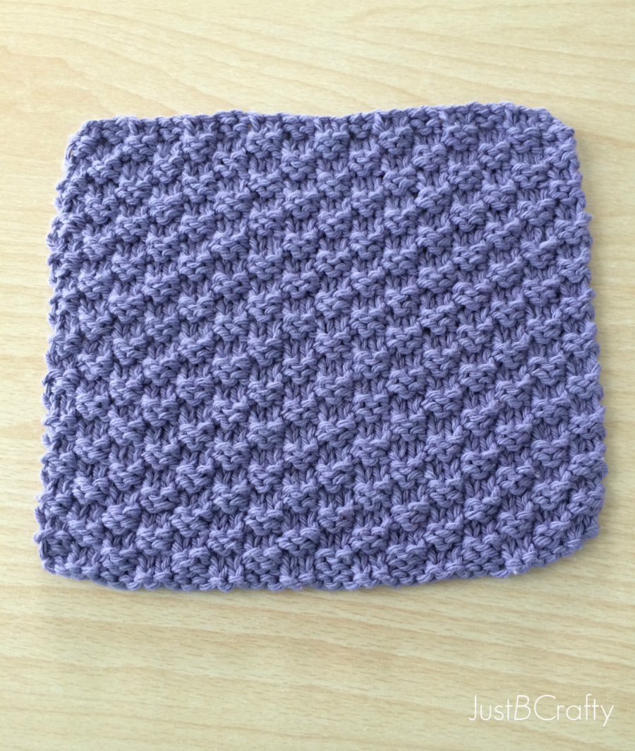New Free Pattern - Textured Knit Dishcloth Pattern - by | Knitted ...