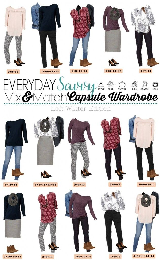 Check out this mini loft winter capsule wardrobe that has both casual and dressy