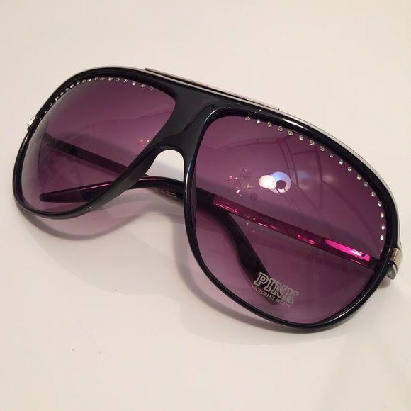 49c9c3499b9 Victoria s Secret Rhinestone Aviator Sunglasses Rare aviator sunglasses  from VS Pink!! Black plastic frames