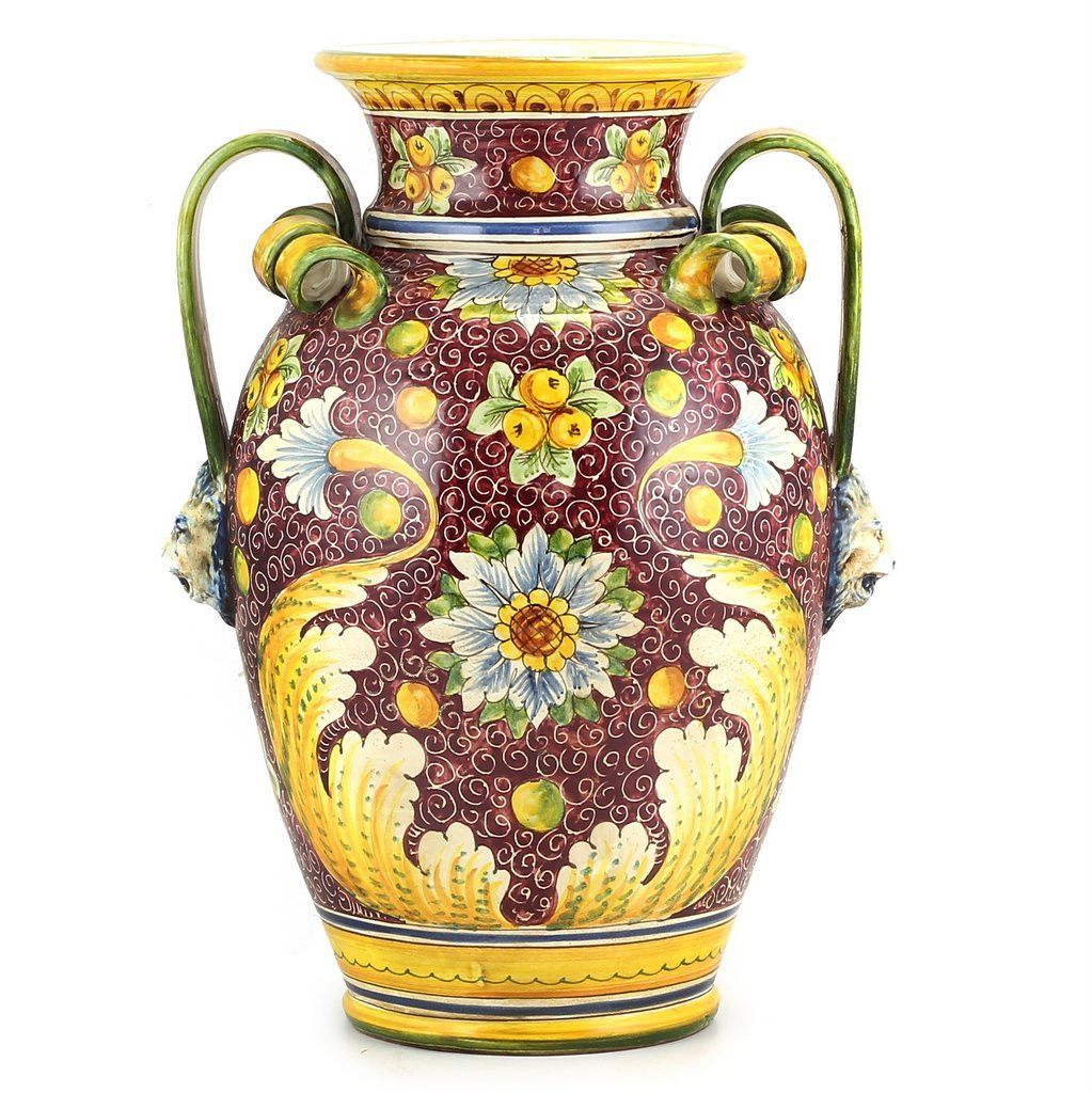 Majolica rubino large vase urn with two handles products and vase majolica rubino large vase urn with two handles reviewsmspy