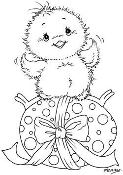 Stampavie Penny Johnson Clear Stamp Chirpy 3 1 2 Pennyclr Pen63 Easter Egg Coloring Pages Easter Colouring Easter Coloring Pages