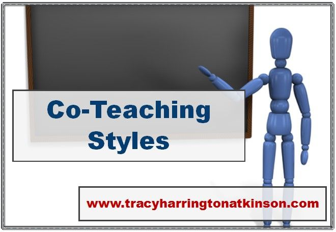 Co-teaching styles: The four different styles of co-teaching as noted by Cushman (2004) are supportive, parallel, complementary and team.