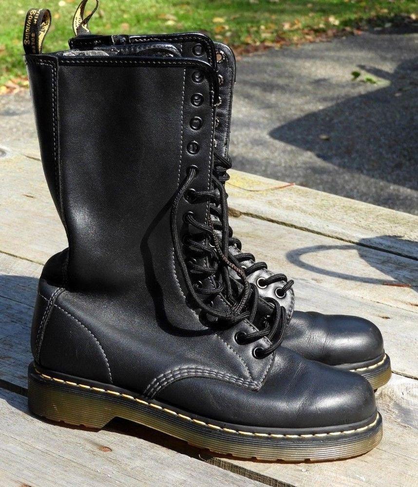 Dr Marten Boots The Original Sz 9 US L Black 14 Eye Sz 7