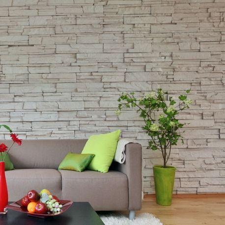 best 25 papier peint effet pierre ideas on pinterest murs en pierre d 39 accent murs bande d. Black Bedroom Furniture Sets. Home Design Ideas