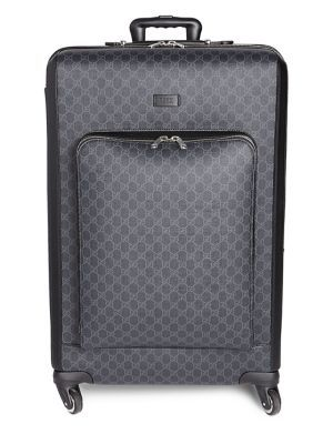 b97beb95f196 GUCCI GG Supreme Large Suitcase. #gucci #bags #canvas #leather #lining #travel  bags #suitcase #nylon #