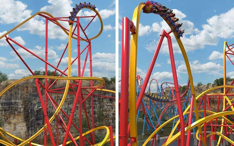 This Wonder Woman Roller Coaster Looks Completely Amazing Roller Coaster Wonder Woman Six Flags