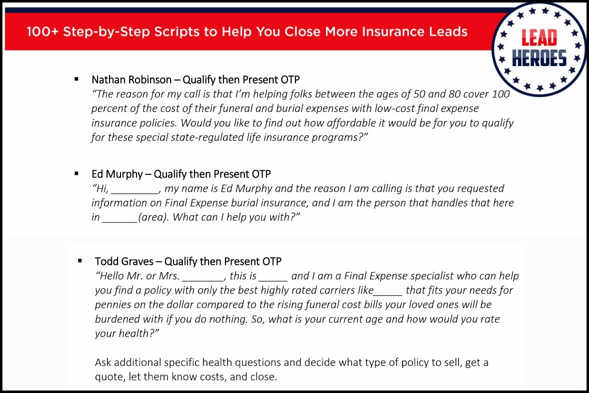 100 Insurance Sales Scripts Ebook Grab Your Free Copy Today