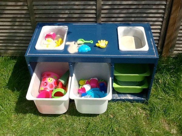 Trofast Bac Sable Table De Sable Espace De Jeu Pour Enfants Piratage Meubles Ikea