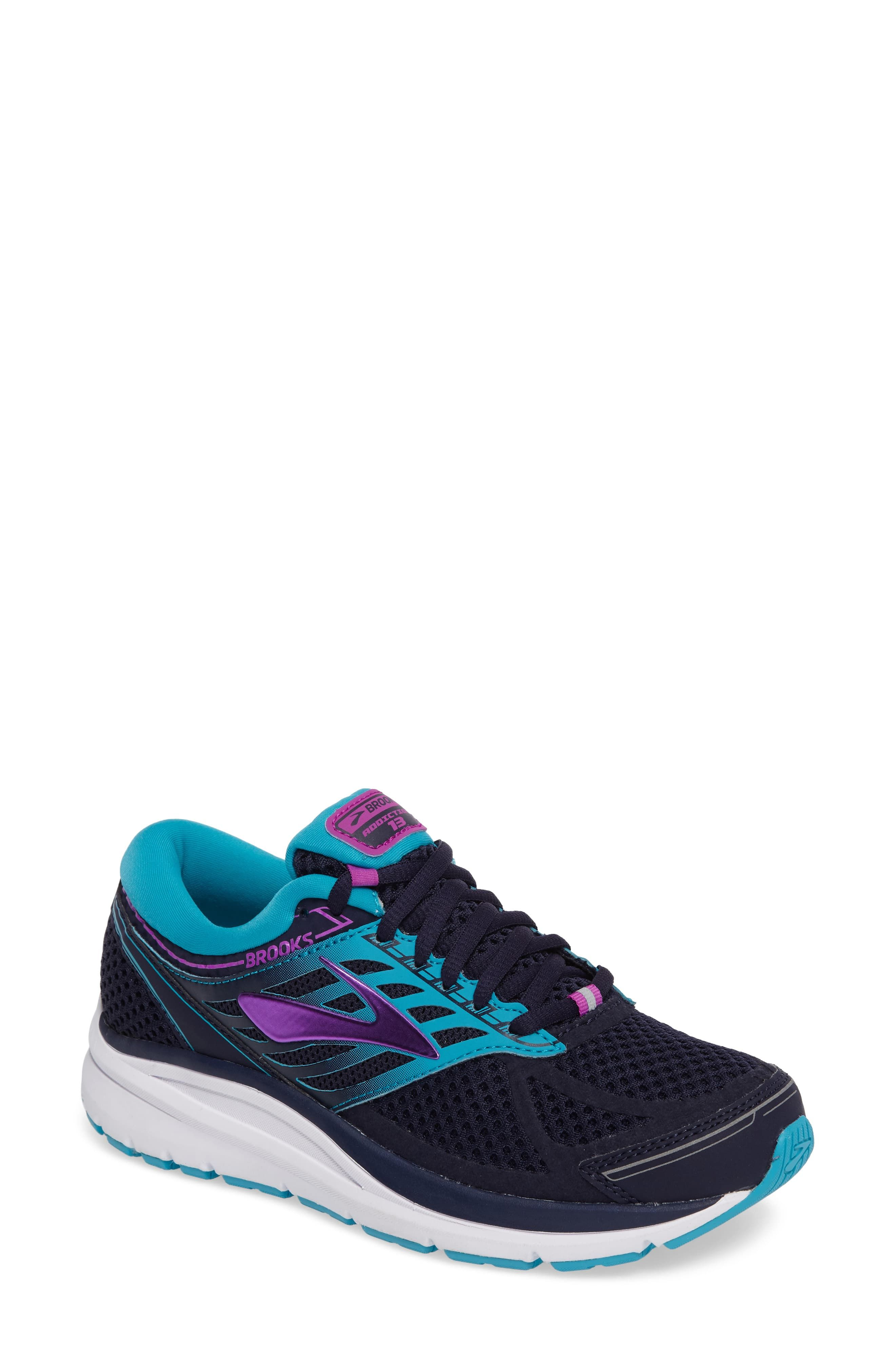 2018 shoes 100% quality various colors Women's Brooks Addiction 13 Running Shoe, Size 5 B - Grey in ...