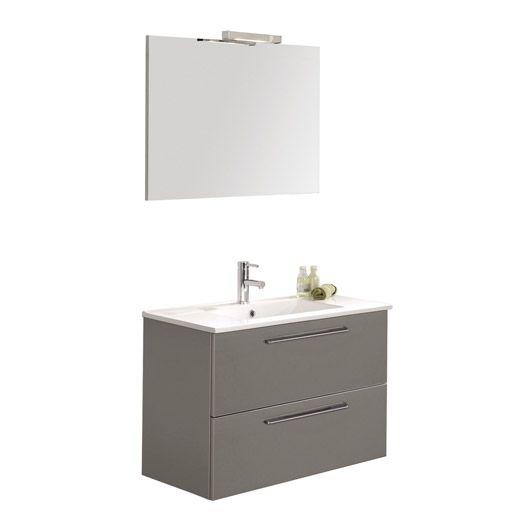 Meuble de salle de bains Level 80 cm, taupe 199E   salle de bain 2 ...