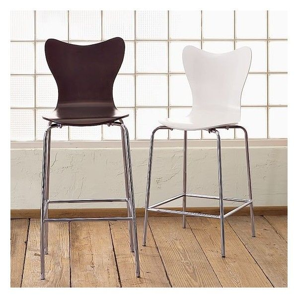 West Elm Scoop Back Bar Stool White West Elm Counter Stools