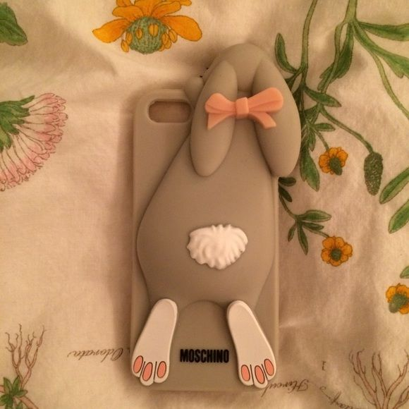 Moschino Grey Bunny iPhone 5/5S phone case Grey bunny case for iPhone 5/5S. Never been used, just taken out of packaging. DISCLAIMER: not sure if it is authentic Moschino or not! Moschino Accessories Phone Cases