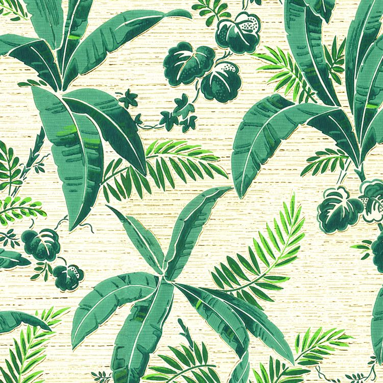 Bahama Leaves Retro Wallpaper ARW001
