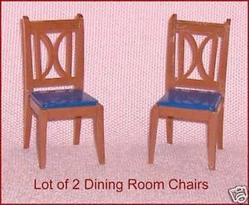 Two Chairs Canadian Reliable Vintage Dollhouse Furniture #Reliable