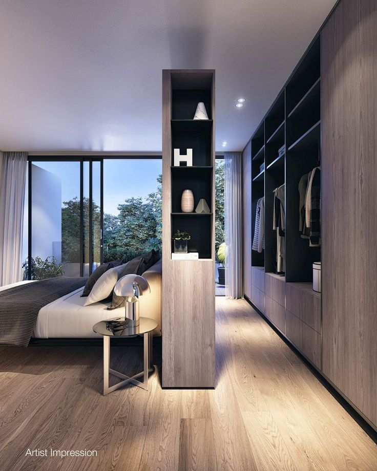 Image Result For Contemporary Master Bedroom With Floating Wall
