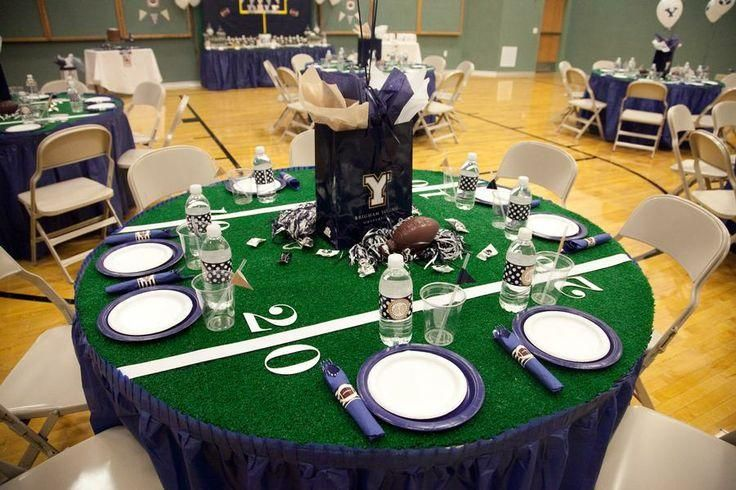 Wedding sports theme sports theme wedding pinterest wedding sports theme football party decorationsfootball junglespirit