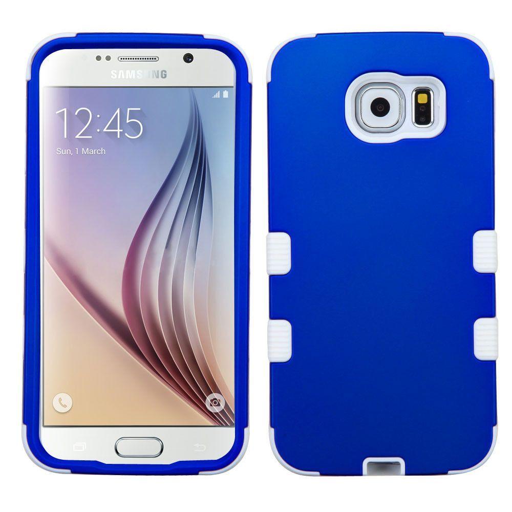 MYBAT TUFF Hybrid Samsung Galaxy S6 Case - Titanium Blue/White