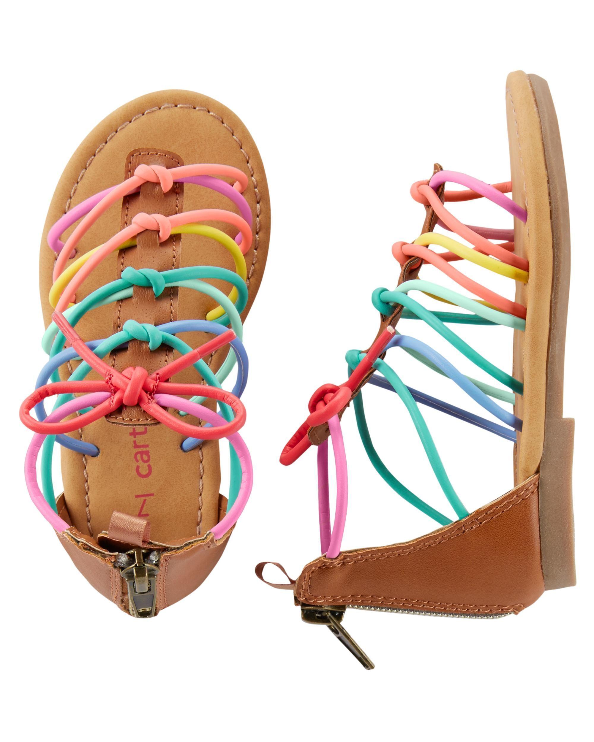 45aface4315 Toddler Girl Carter s Gladiator Sandals