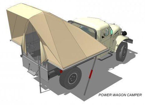 1964 Dodge Power Wagon Diesel Conversion Flatbed Rear Tent Drawing  sc 1 st  Pinterest & 1964 Dodge Power Wagon Diesel Conversion Flatbed Rear Tent Drawing ...