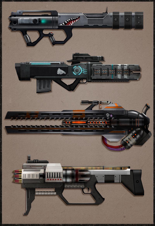 Raketenwerfer, Plasmawerfer, Netzwerfer