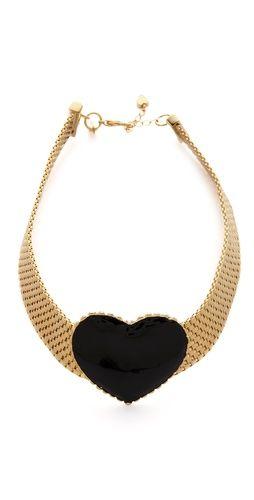 So pretty & perfect for Valentine's! tuleste market Heart Choker Necklace