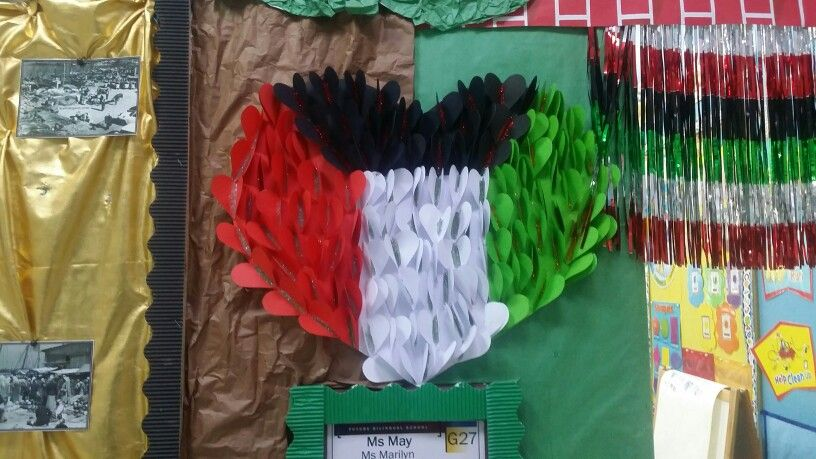 National Day Of Kuwait Bulletin Board Kindergarten