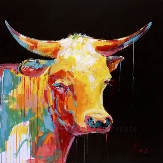 """Cows with Guns 03"" by Judith Dalozzo"