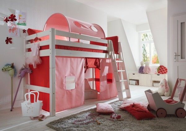 Kinderhochbett  Ein Mädchentraum wird wahr - Kinderhochbett Infanskids komplett in ...