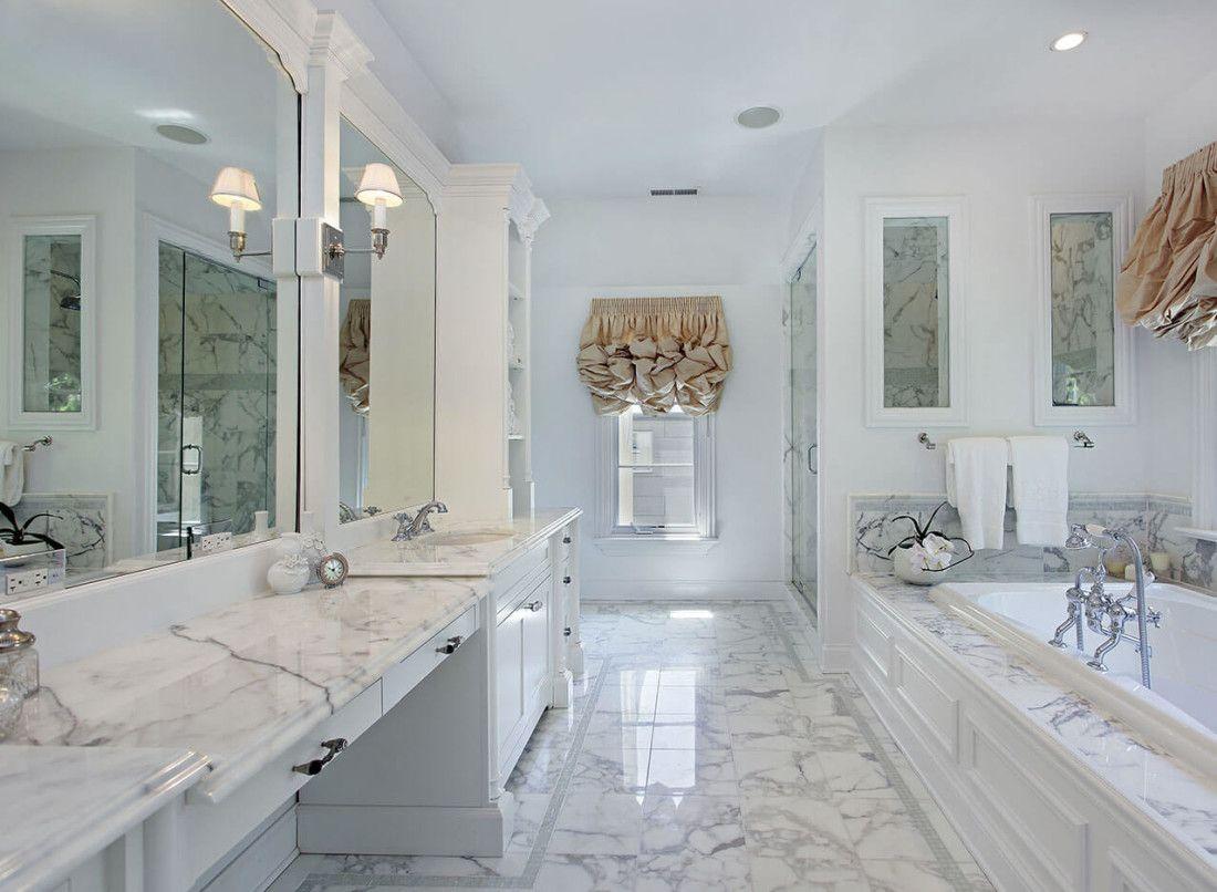 White Carrera Marble Bathroom Countertop 3 Marble Bathroom