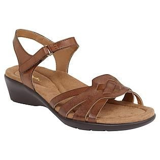 Thom McAn Women's Sandal Walden - Brown leather