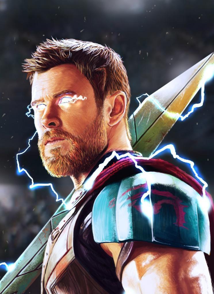 Best Wallpaper For Iphone X Thor God Of Thunder Artwork 4k Hd Papel De Parede Celular Vilas Desenhos