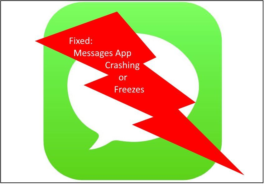Fix iPhone X message App Freezes and Crashes Solved
